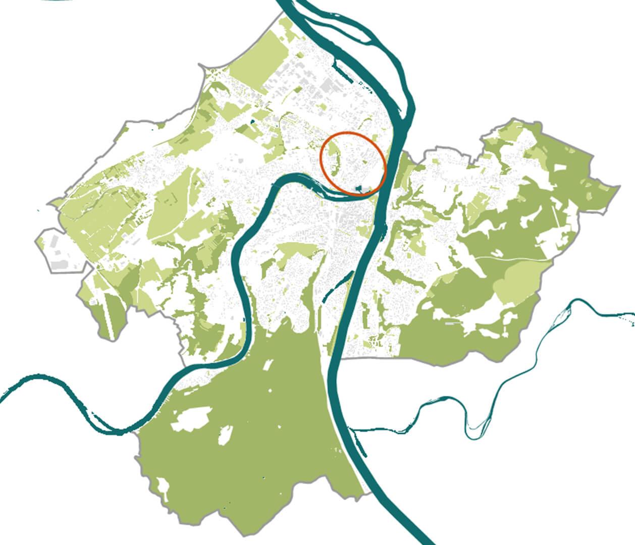 Das Fördergebiet im Gesamtbild der Koblenzer Grünzüge